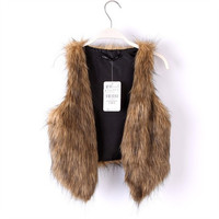 Luxuriou Faux Fur Vest Shawl Winter Automn Fall Women Fashion = 1931516356