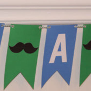 It's A Boy Banner, baby shower, blue and green, baby boy, photo prop, decorations