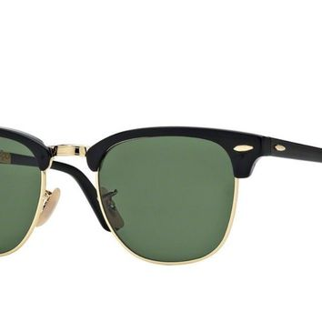 RAY-BAN Sunglasses RB2176 FOLDING CLUBMASTER 901 Black / Gold RRP-£200