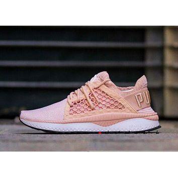 PUMA TSUGI NETFIT EVOKNIT B-CSXY Pink/Nude soles Fashion Women Men Net Sneakers Breathable Shoes