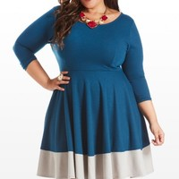 Plus Size Under Block and Key A-Line Dress | Fashion To Figure