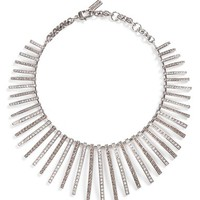 St. John Collection Swarovski Crystal Fan Necklace | Nordstrom