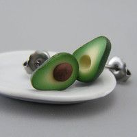 Avocado - Studs / Post Earrings