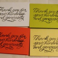 Set of 4 Thank You Greeting Card, USA Made, #38