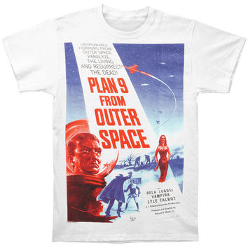 Plan 9 From Outer Space Men's  Plan 9 T-shirt White