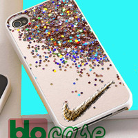 Nike Glitter For Iphone 4/4s, iPhone 5/5s, iPhone 5C, iphone 6, and iPhone 6 Plus Case