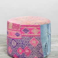 HYM Salvage X Urban Renewal Small Round Pouf - Urban Outfitters