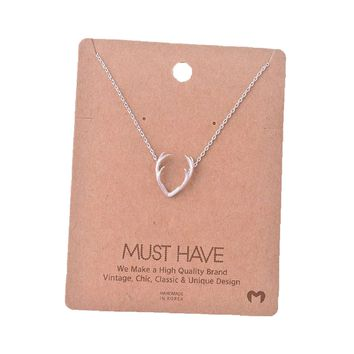 Must Have-Deer Horn Necklace, Silver