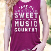 Take Me to the Country | Flowy Muscle Tank