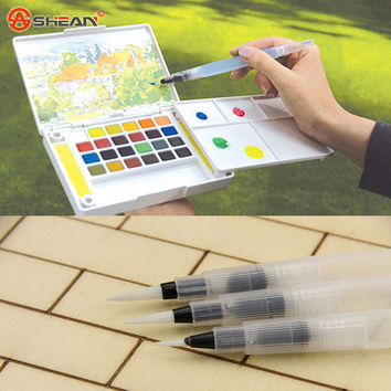 12cm Water Brush Pen Ink Water Color Calligraphy for Beginner Painting Office Gift
