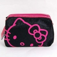 Hello Kitty Cosmetic Hand Bag Make-up Case Black