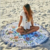 Print Wall Tapestry Wall Murals Beach Towel Beach Blanket To Sit 11218 Diameter 150cm