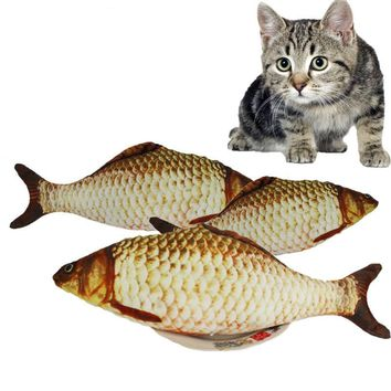 7 Style Catnip Cat Toys Fish For Cat Fish Pet Toys Plush Stuffed Fish Shape Pet Toys For Cat Supplies Scratch Dogs Pet Products