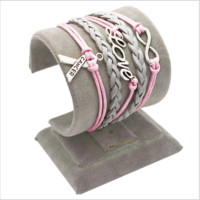 Women's Infinity Love Breast Cancer Awareness Bracelet
