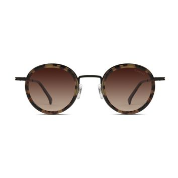 Komono - Clovis Tortoise Black Sunglasses / Polarized Revo Lenses