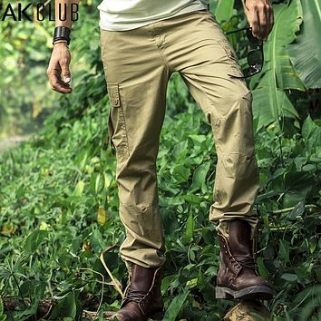 Men Cargo Pants Vintage Military Bush fighting Baggy Cargo Pants Field Army Style Casual Men Pants