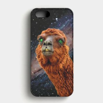 LlamaS Green Nebula Encounter iPhone SE Case
