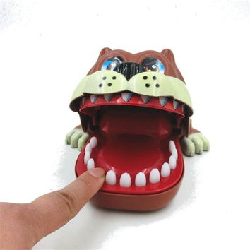 Funny Big Mouth ShaPi Dog Bite Finger Attention Pank Toys Novelty Fidget Reduce Stress For Kids Children Gift