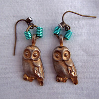 Elegant Owl Dangle Earrings