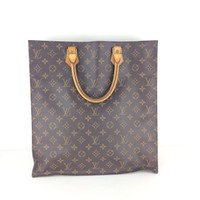 Authentic LOUIS VUITTON Monogram Sac Plat Tote Bag