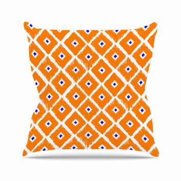 "Nick Atkinson ""The Lucky One"" Orange Navy Throw Pillow"