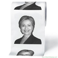 Hillary Clinton Toilet Novelty Party Gag Gift Prank Humor 1 Roll Tissue