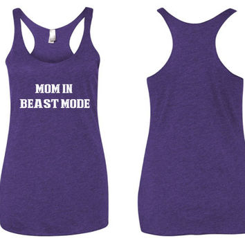 Mom In Beast Mode // Workout tank  // crossfit tank // motivational tank // tank top // Bombshell tank // beauty tank // Beast Mode Tank