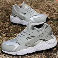 """NIKE"" Women Casual Huarache Running Sport Shoes Sneakers Grey"