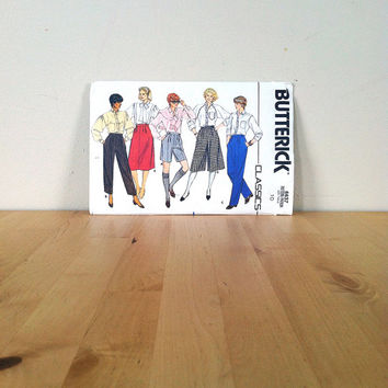 Butterick 6637 Misses' Shorts, Skirt, Culottes & Pants {1980s} Vintage Sewing Pattern