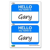 Gary Hello My Name Is - Sheet of 2 Stickers