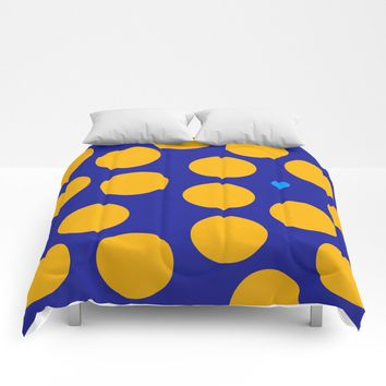 yellow dots Comforters by netzauge