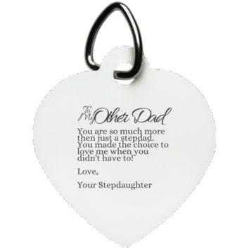 Funny Father's Day Gift For Dad From Wife, Daughter, Son, Stepdaughter, Stepson, Mom, Grandma, Mother In Law (10other dad stepdaughter UN5770 Heart Pet Tag)