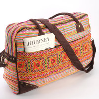 Large Hmong Southwestern Holiday Bag, Travel Bag, Suitcase, Overnight Bag, Getaway bag, Vacation Bag