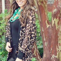 Take Me Away Cardigan: Leopard | Hope's