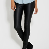 the skinny bengaline pant in faux leather