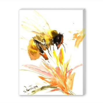 'Bee' Painting Print on Wrapped Canvas