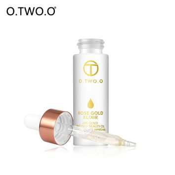 O.TWO.O 24K Rose Gold Infused Beauty Oil Elixir Skin Make Up Oil For Face Essential Oil Before Primer Moisturizing Anti-aging
