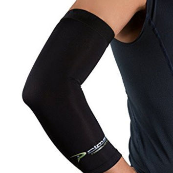 Copper Elbow Sleeve -The Best Compression Arm Sleeve - Great for Tennis, Weightlifting, Golf, Baseball, & Basketball - Click the Yellow Button at the Top of This Page to Protect your Elbow Joints now!