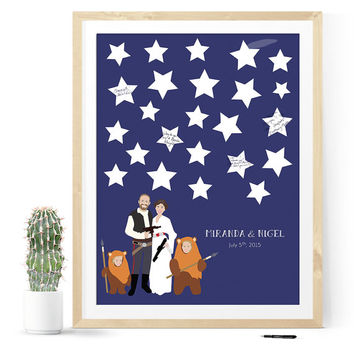 Star wars wedding, Star Wars Guest Book, Star wars art, star wars poster, star wars wedding guestbook, geeky, wedding, geek wedding