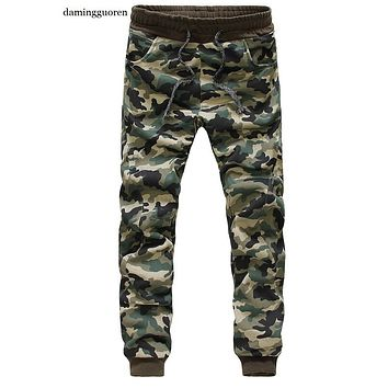 Euro Size Mens Joggers Pants New Hip Hop2016 Men Pants Camouflage Pencil Pants Skinny Sweatpants Trousers Man Camo Joggers