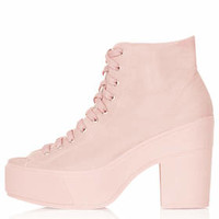 ATOM OPEN TOE LACE UP BOOTS