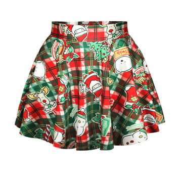 Lovely Christmas Santa Short Skirt