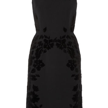 Fil coupé-paneled crepe dress | Dolce & Gabbana | US | THE OUTNET