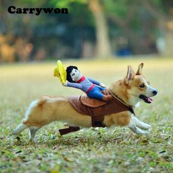 Pet Clothing Cowboy Horse Riding Clothes Cat or Dog Suit - Free Shipping