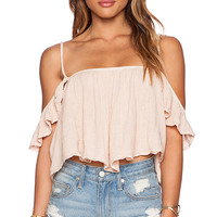 Jen's Pirate Booty La Rose Top in Peach