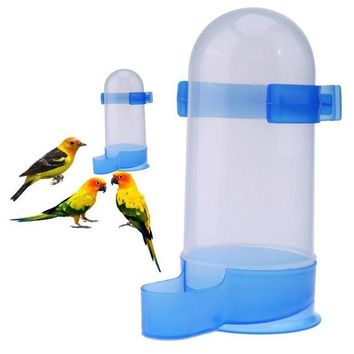 DCCKH0D Plastic Bird Feeder Pet Cage Hanging Automatic Food Bowl Drinking Water Dispenser for Parrot Parakeet Budgies Cockatiel