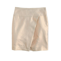 J.Crew Womens Crossover Wrap Skirt In Metallic Linen