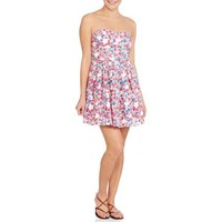 No Boundaries Juniors Strapless Foam Bra Cup Dress - Walmart.com