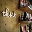 THINK recycledwood sign by WilliamDohman on Etsy