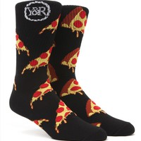Young & Reckless Pizza Crew Socks - Mens Socks - Black - One